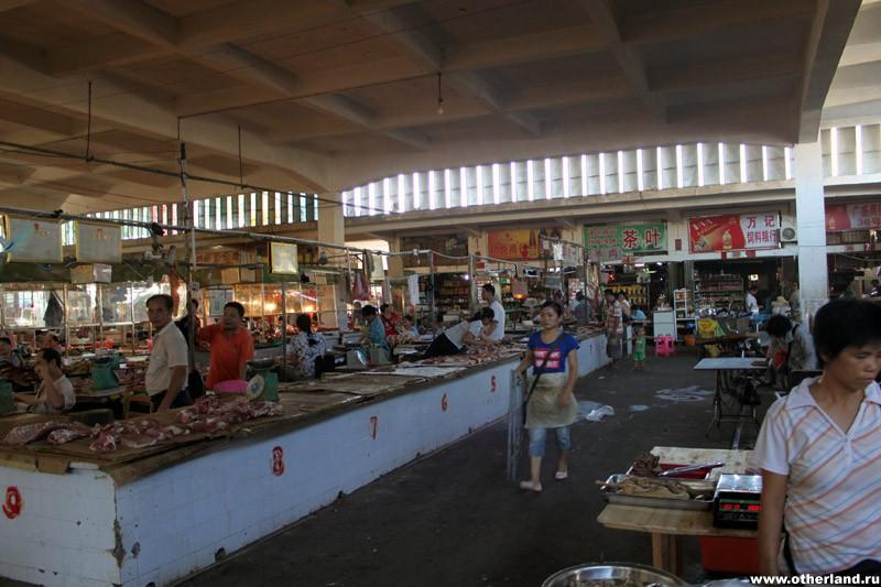 Хайнань. Санья. Местный рынок.
