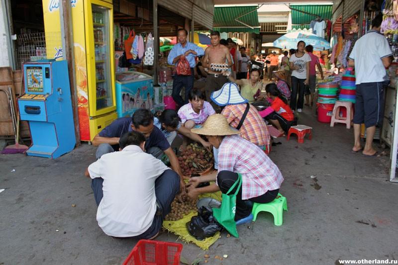 Хайнань. Санья. Местный рынок